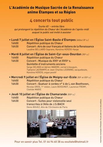 étampes, Jean BELLIARD, Académie, Musique Sacrée, stage, choeur, chorale
