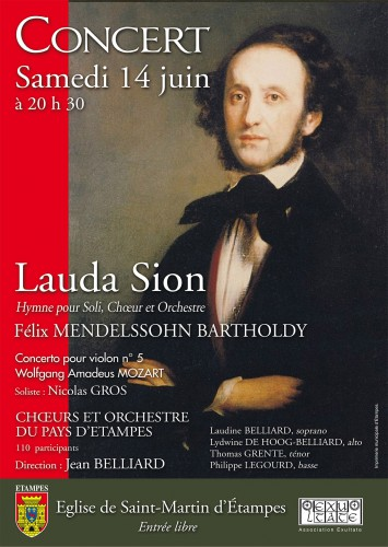 Concert, choeur du Pays d'Etampes, Jean Belliard, Mendelssohn