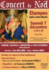 concert, choeur du pays d'étampes, Jean Belliard, noël